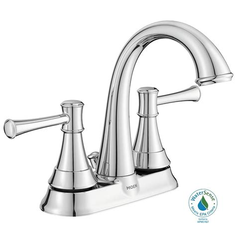 Bathroom Sink Faucets At Home Depot by Moen Ashville 2 Handle Bathroom Faucet Chrome Finish