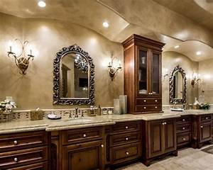 Customize contemporary tuscany bathroom cabinets decor for Tuscan bathroom vanity cabinets