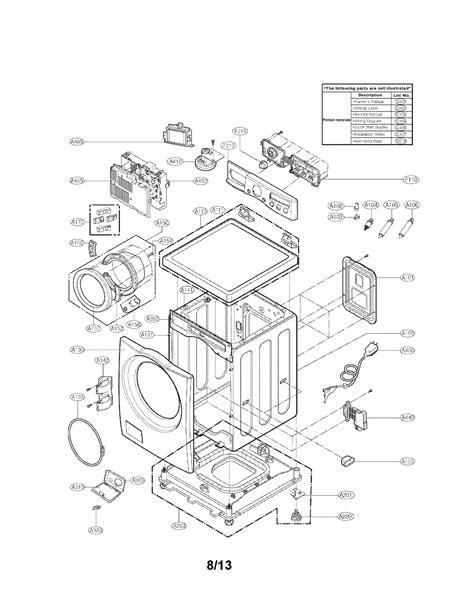 lg washer parts model wmhwa sears partsdirect