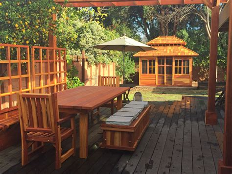 redwood patio table custom  redwood dining tables