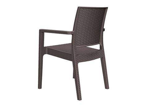chaise de salon de jardin chaise de jardin en résine tressée achatdesign