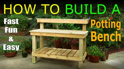 Diy  How To Build A Potting Bench  Work Bench Official