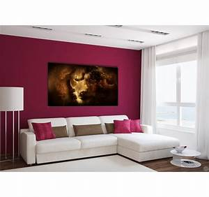 Tableau Lion Noir Et Blanc : dark lion tableau design artwall and co ~ Dallasstarsshop.com Idées de Décoration