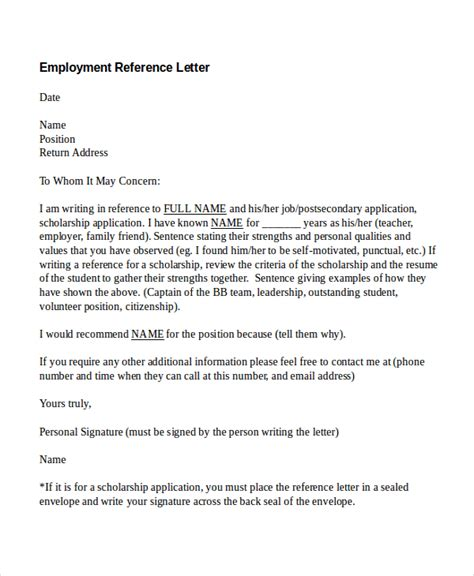 job reference letter sample   writing lab