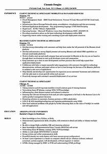 Client Technical Specialist Resume Samples