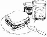 Peanut Butter Sandwich Coloring Drawing Jelly Pages Clipart Cliparts Library Clip Jam Printable Sweet Peanuts Clipartbest Getdrawings Pdf Drawings sketch template