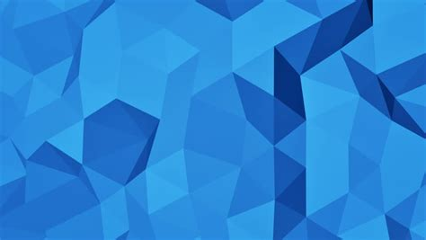 Stock Video Clip of Blue polygonal geometric surface