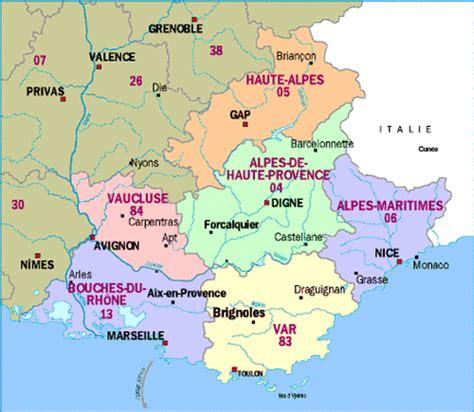Carte De Region Et Departement Et Chef Lieu by Info Departements Region Paca Voyages Cartes