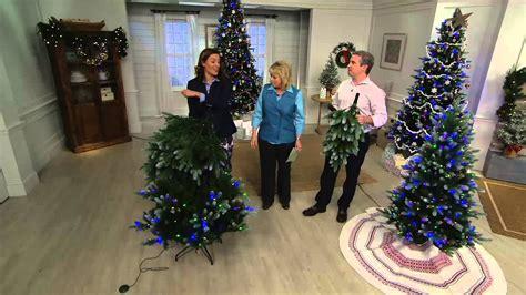 ellen degeneres christmas trees ed on air santa s best frosted fraser fir tree by degeneres on qvc