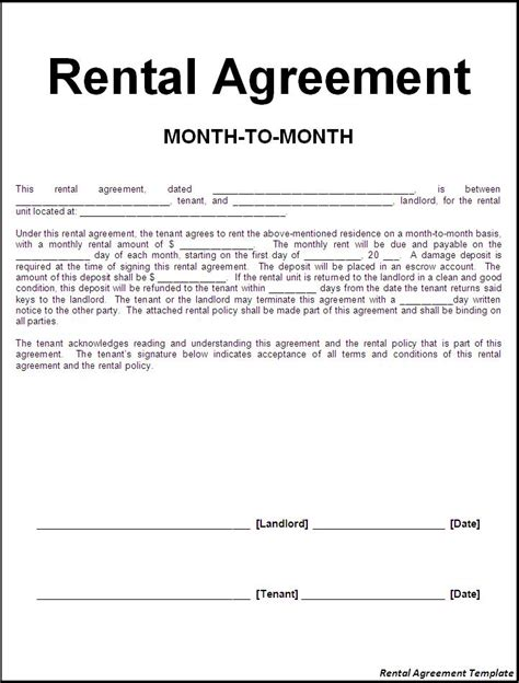 lease agreement sample rent lease agreement real estate forms