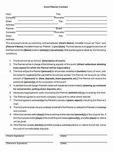 event contract template 14 free word excel pdf With wedding planner contract agreement