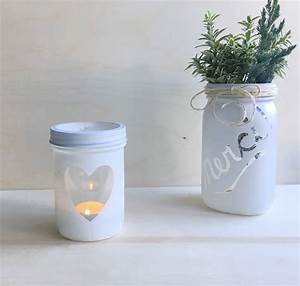 DIY Pot Masson Dcoratif Pour Chandelle Sparks And Bloom