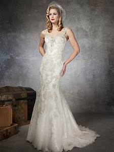 Fully beaded lace wedding dress by justin alexander sang for Lace and beaded wedding dress