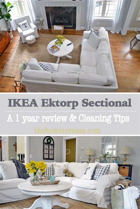 Ikea Ektorp Sectional  1 Year Review & Cleaning Tips