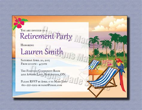 invitation party templates retirement party invitations template best template