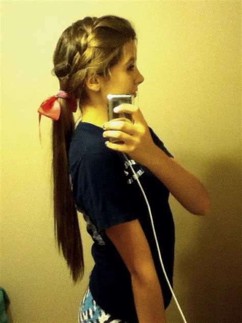 cute cheerleading ponytails trusper