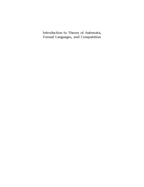 Download Introduction To Theory Of Automata,Formal