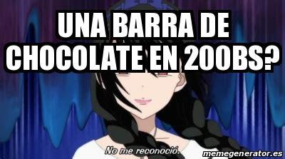 Memes De Chocolate - meme personalizado una barra de chocolate en 200bs