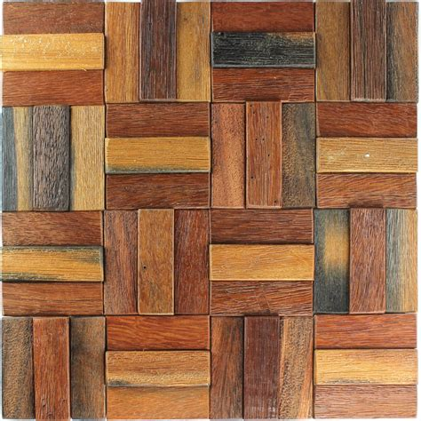 Holz Mosaik Fliesen by Wood Mosaic Tiles Planks Lacquered