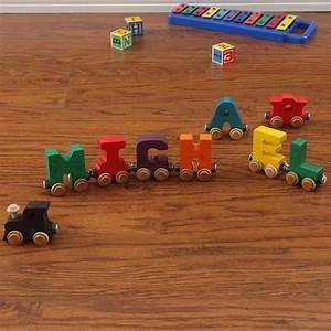 Maple landmark letter quotjquot nametrain cutekidstuffcom for Wooden train letters michaels