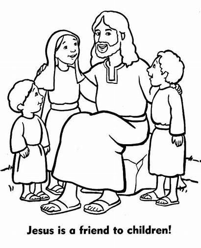 Coloring Christian Jesus Pages Topcoloringpages Children