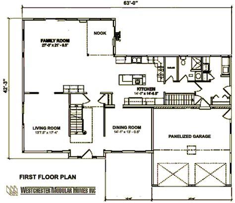 custom colonial   westchester modular homes  story floorplan