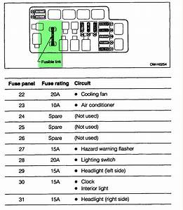 2001 Subaru Outback Fuse Box Diagram