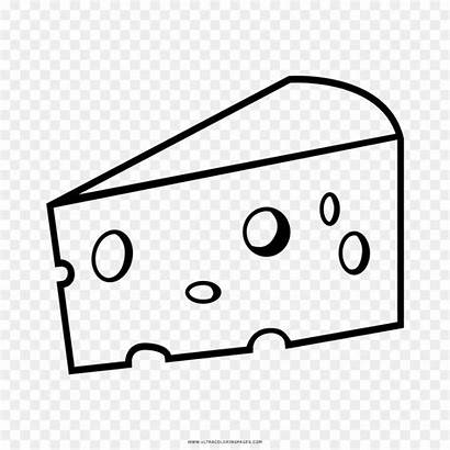 Cheese Drawing Coloring Clipart Queso Colorear Queijo