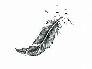 Dessin De Plume Facile : tatouage plume id es inspirantes de tatouage et signification ~ Melissatoandfro.com Idées de Décoration