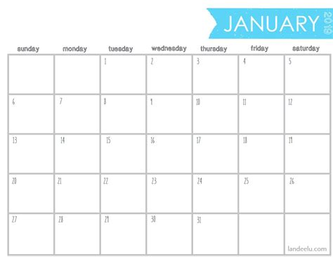 printable  blank calendar printable calendar