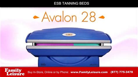 esb tanning bed avalon 28 family leisure