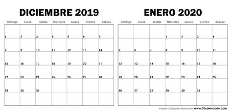 diciembre enero calendario notas calendario
