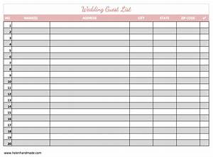7 free guest list templates excel pdf formats With wedding invitations guest list templates