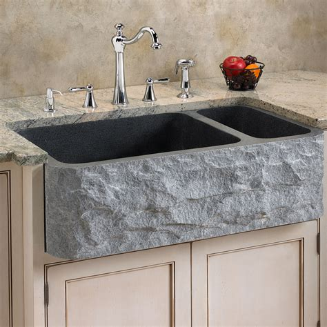 granite apron front kitchen sinks polished granite farmhouse sink chiseled front kitchen 6884