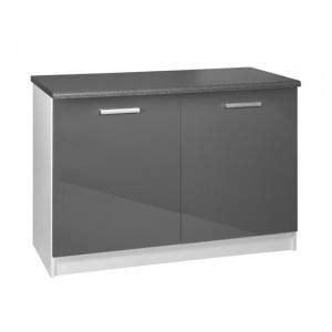 plan de travail cuisine 120 cm meuble cuisine bas 120 cm 2 portes tara blanc achat