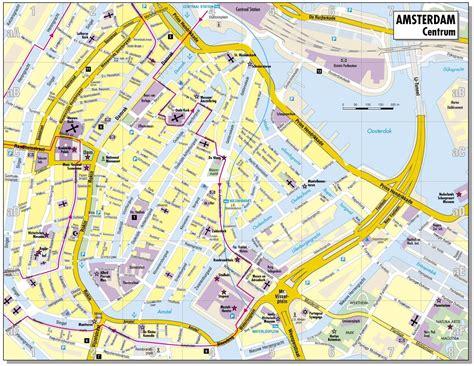 city map  amsterdam netherlands map   city centre