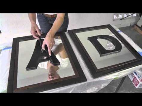 diy divas mirrored frames  monogram letters youtube