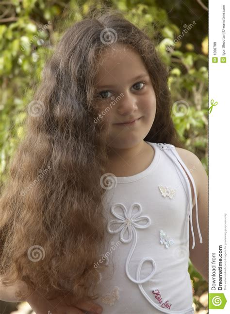 young girl with long hair stock image image of face hair