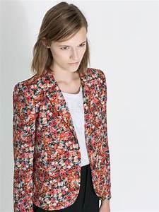 Blazer Femme Fleuri : blazer femme multicolore en coton m lang imprim fleuri avec passepoil ~ Melissatoandfro.com Idées de Décoration
