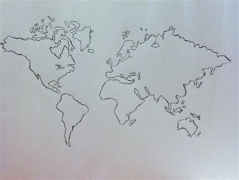 world map pencil drawing drawing  hae kim