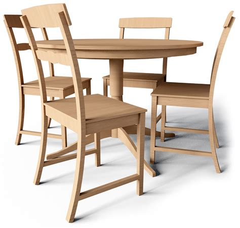 cad and bim object leksvik drop leaf table and chairs ikea