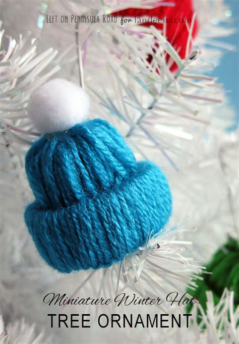 winter hat tree ornament yarn craft landeelucom