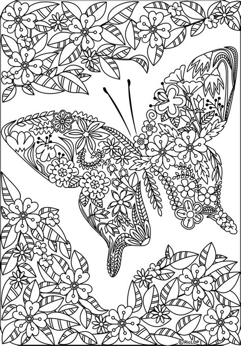 Twenty Adult Coloring Pages (With images) Butterfly