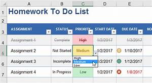 cool to do list template - add cool features to your to do lists in excel