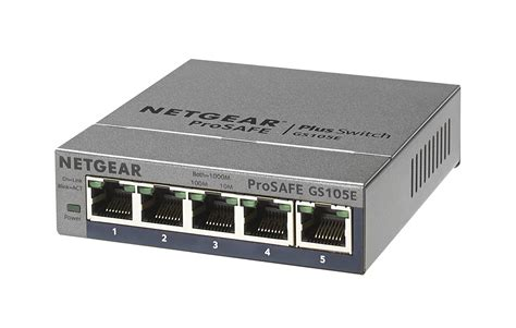 Netgear Prosafe 5 by Netgear Prosafe Plus 5 Ethernet Switch Black