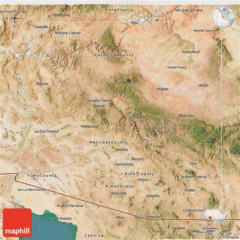 Satellite 3d Map Of Arizona
