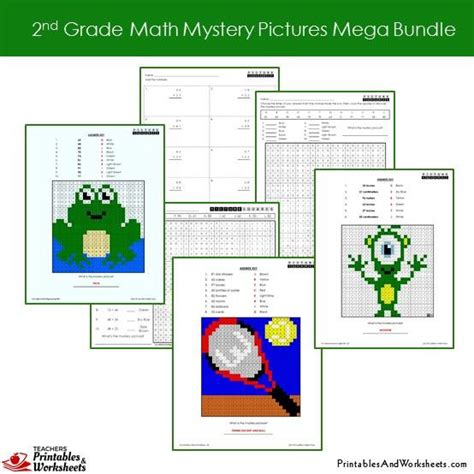 grade math mystery pictures coloring worksheets mega