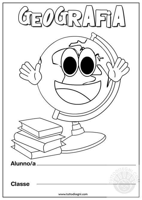 disegni per cover copertine quaderno di geografia classe prima fz37