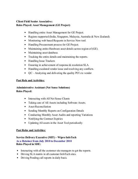 Hardware Asset Management Resume by Sheela Resume