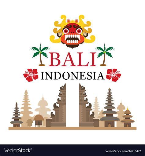 bali indonesia travel  attraction royalty  vector